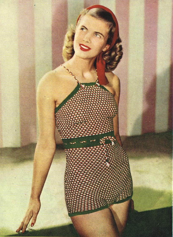 Vintage patterns and making: swimwear