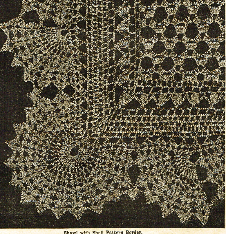 Vintage Victorian Crochet Lace Shawl Patterns - Vintage ...