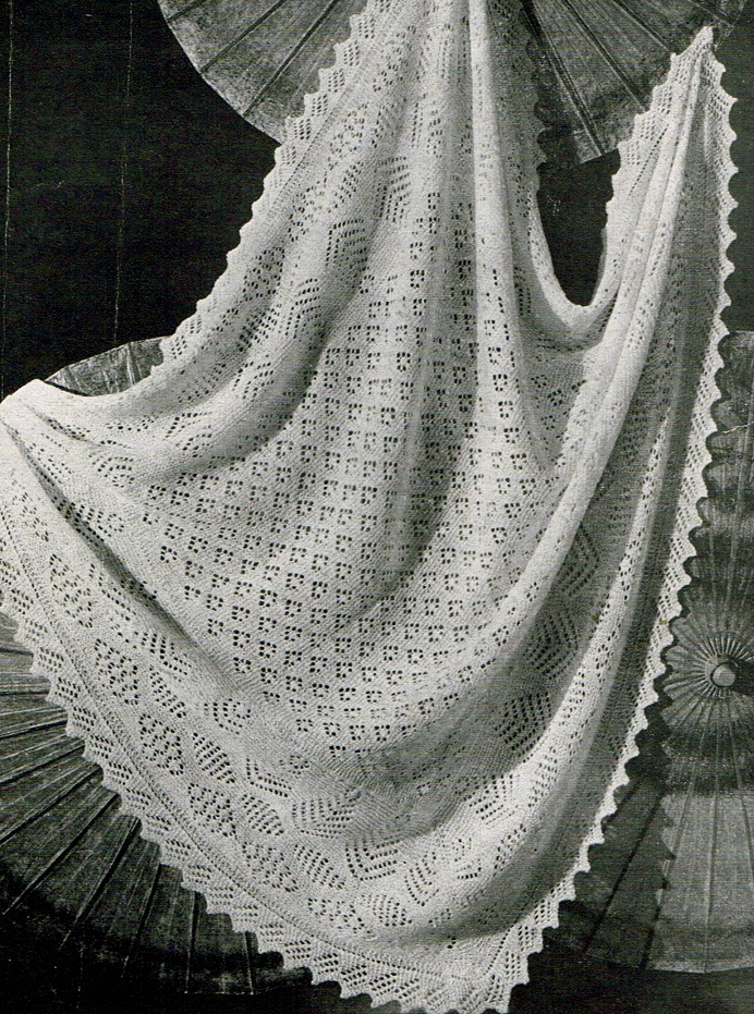 Sheltland lace shawl