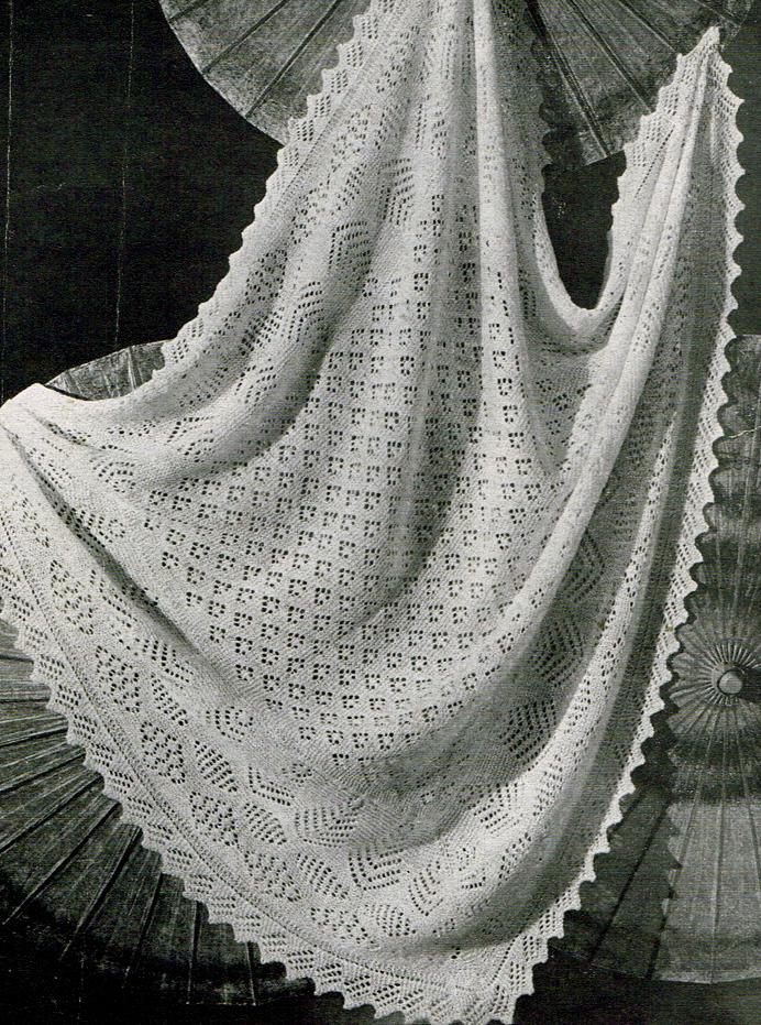 Sheltland lace shawl