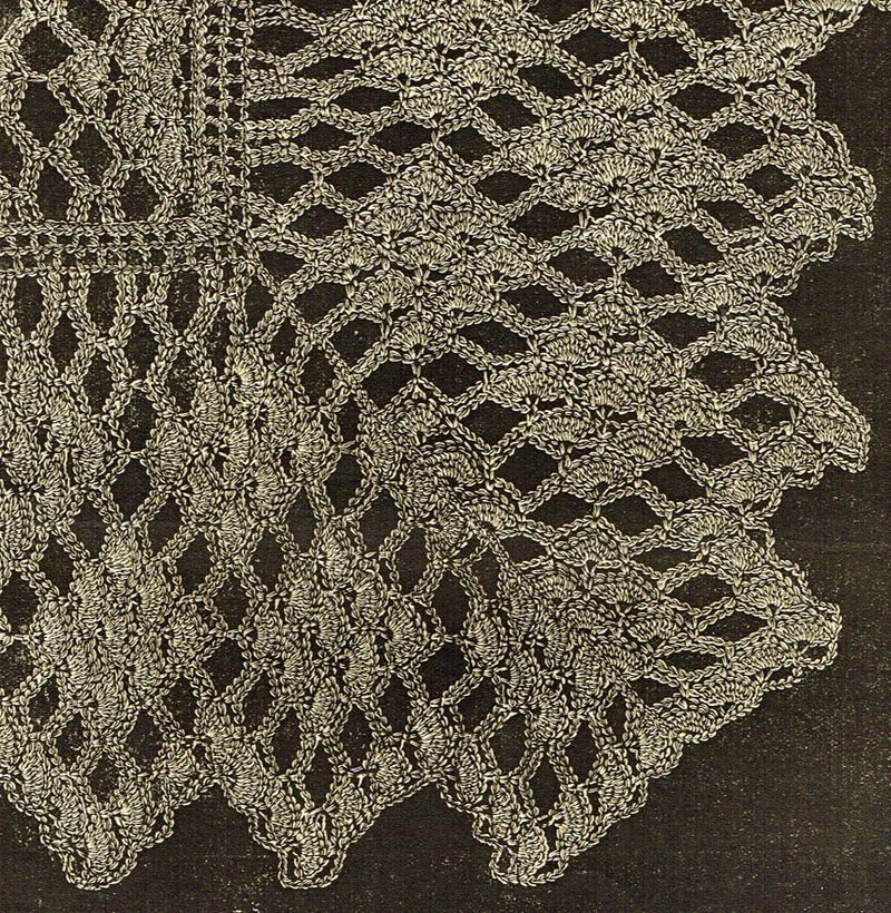 Victorian crochet shawls 6