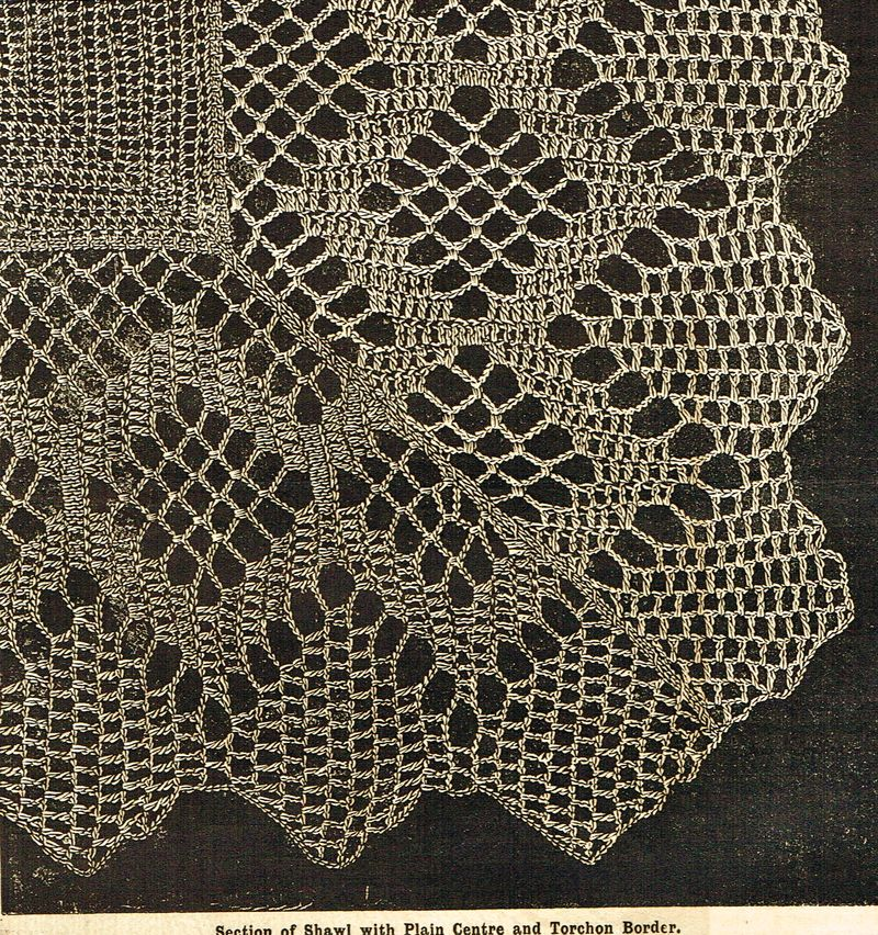 Victorian crochet shawls 12