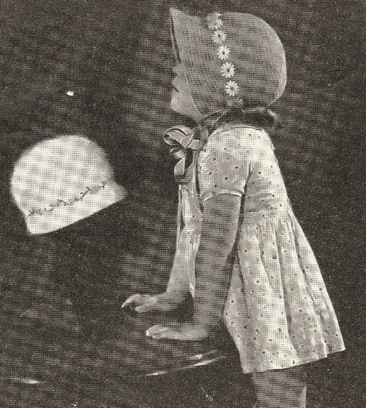 1920s childrens bonnets