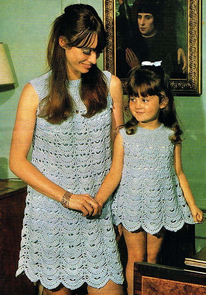 1b36817bdae 1960s mod mini dress and suits crochet patterns- Twiggy - Vintage ...