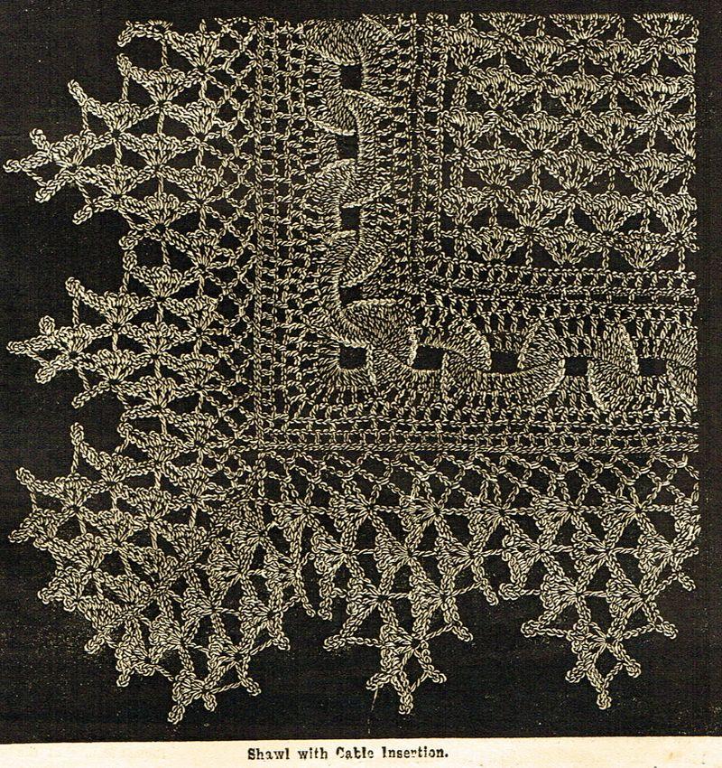 Victorian crochet shawls 4