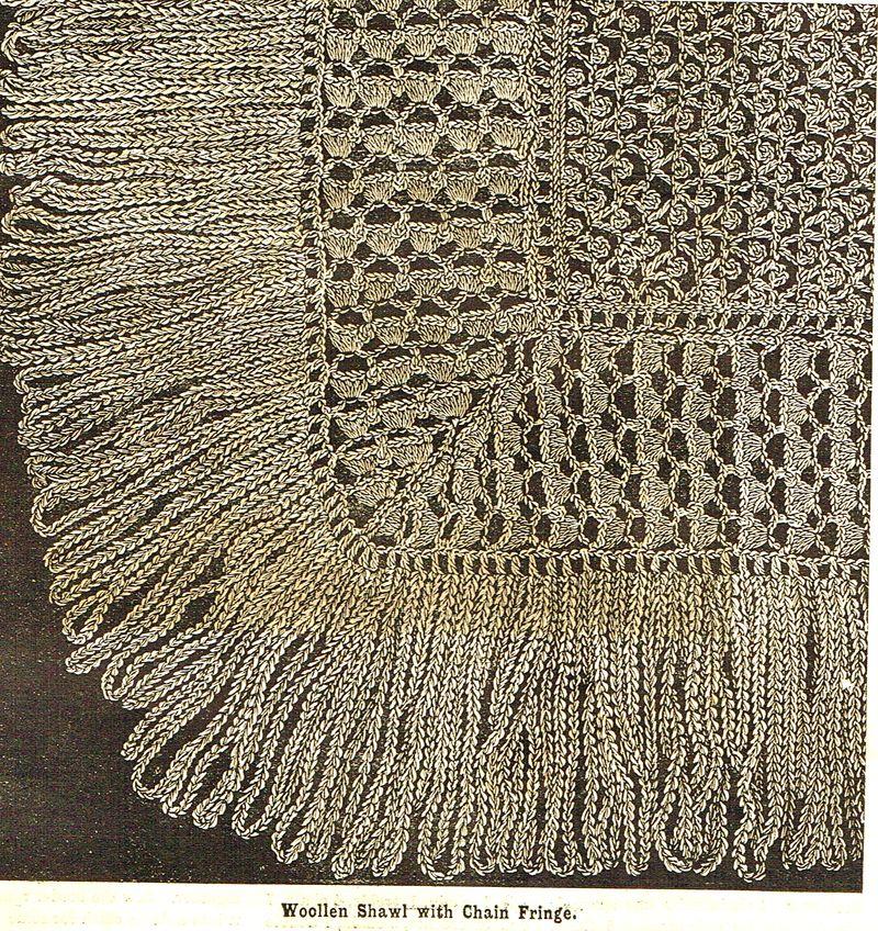 Victorian crochet shawls 13