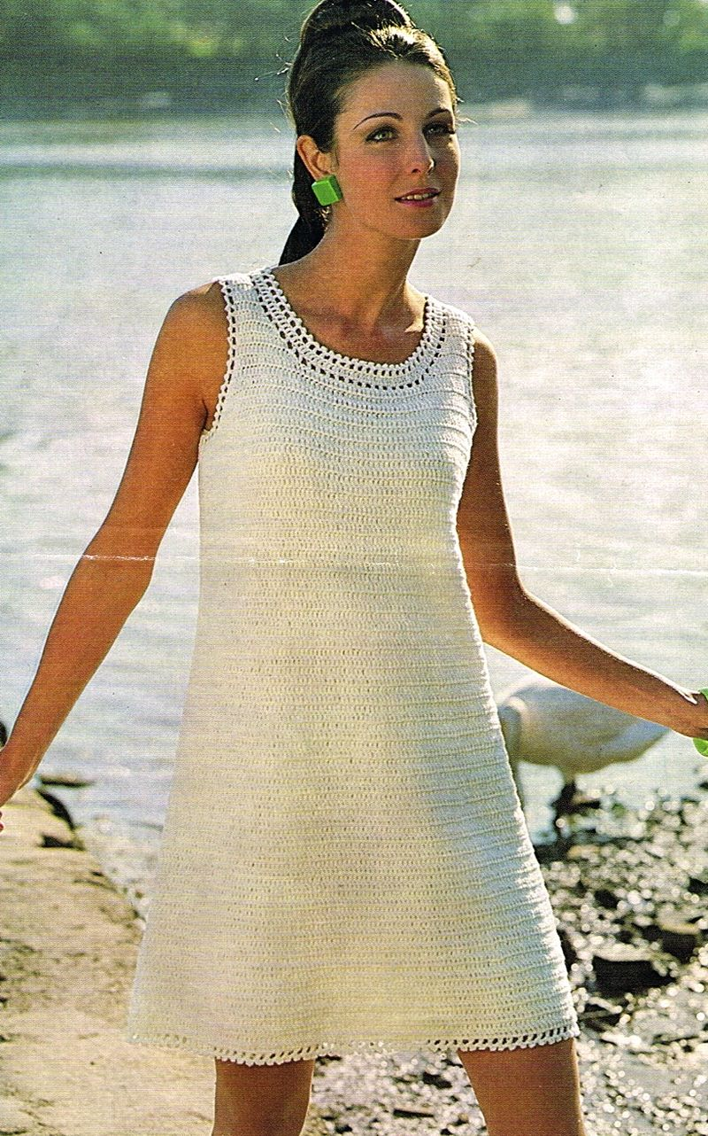 Crocheted mini dress