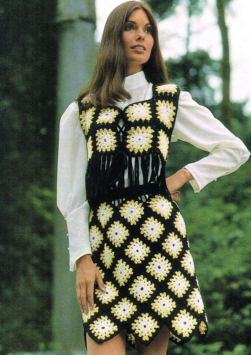 Crochet mini suit