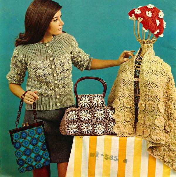 Vintage Flower Loom Patterns And Yarn Flower Making Part 2