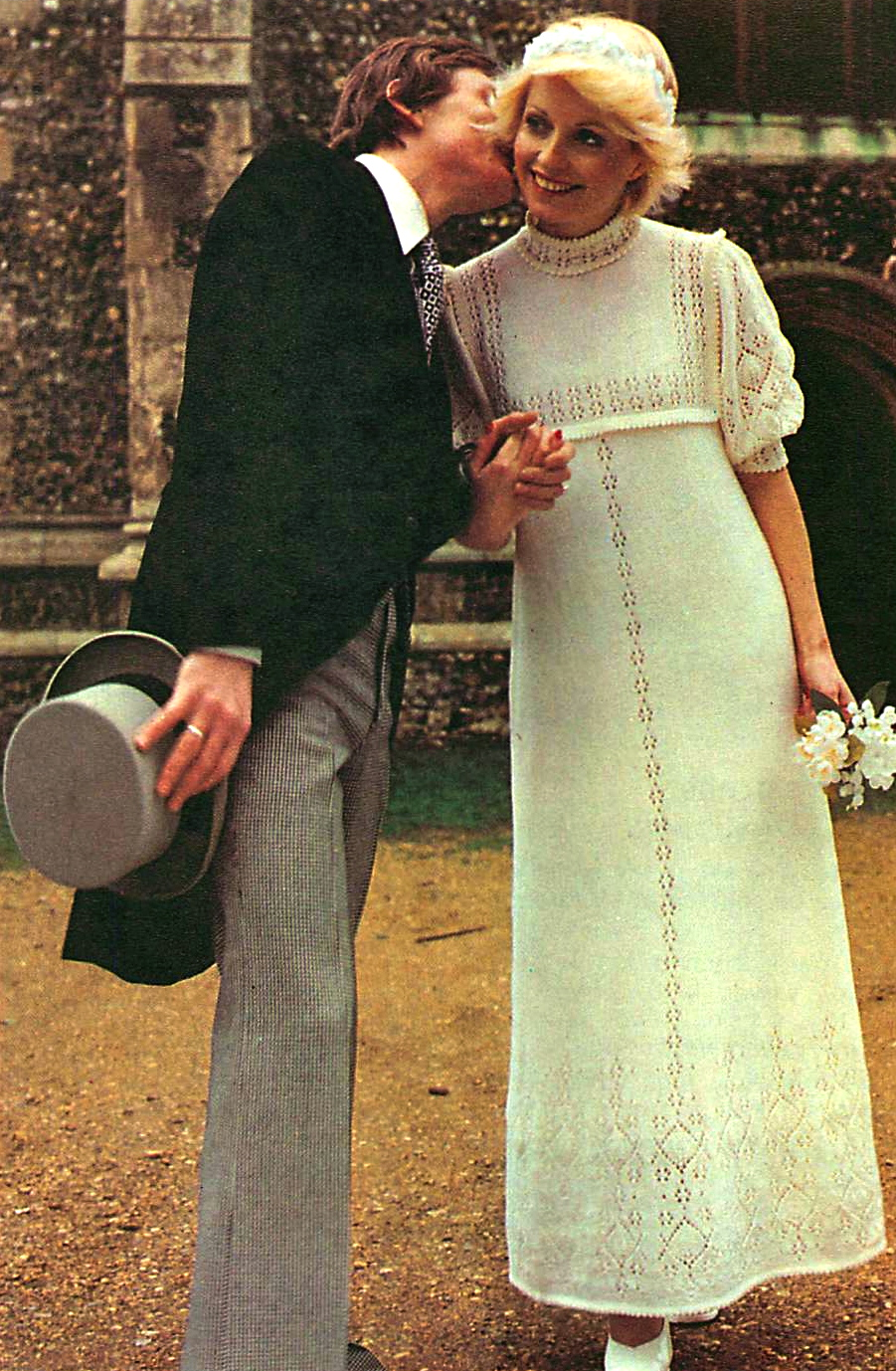 Vintage 1960s mod style wedding dress knitting pattern- how to make ...