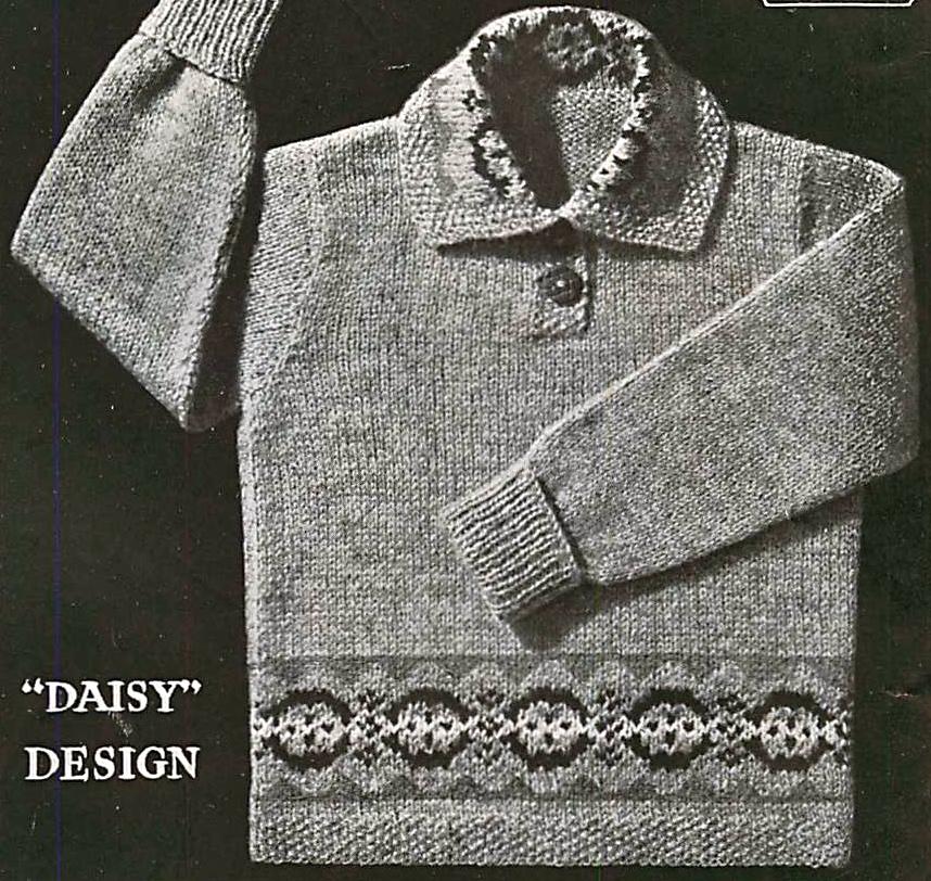 Vintage patterns and making: fair isle