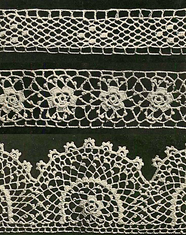 3 irish crochet edgings pic