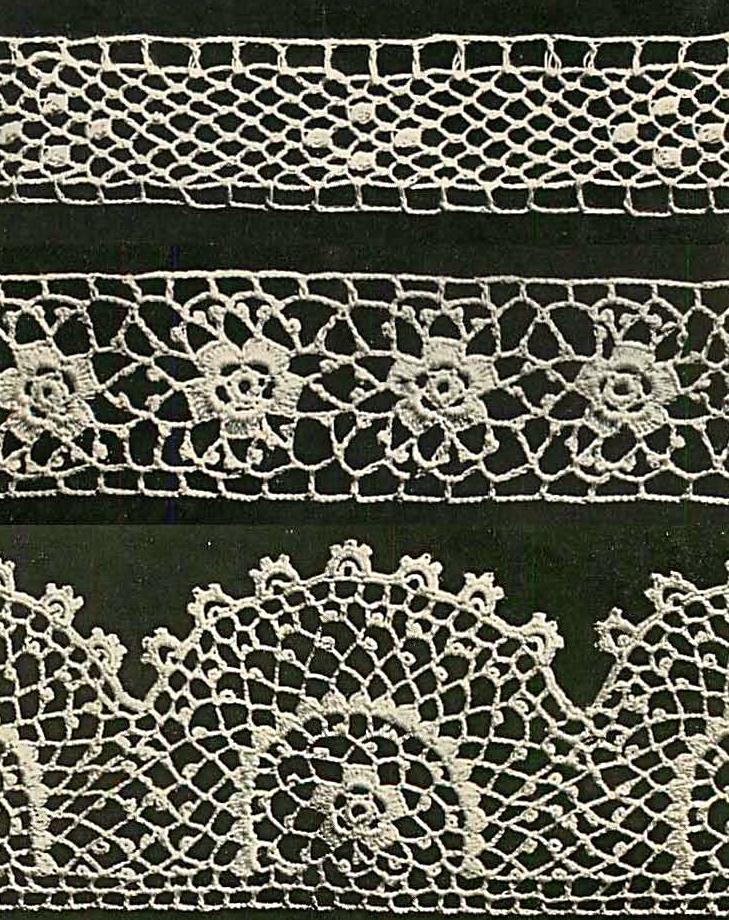3 irish crochet edgings pic
